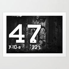 47 Horizontal Art Print