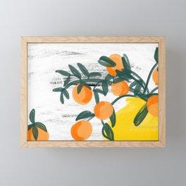 Oranges in Vase No 04 Framed Mini Art Print