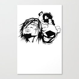 Content with KAOS characters Canvas Print