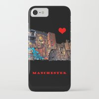 manchester iPhone & iPod Cases featuring Colourful MANchester by inkedsandra