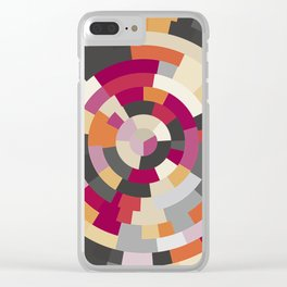 Concentric Rings Grey Clear iPhone Case