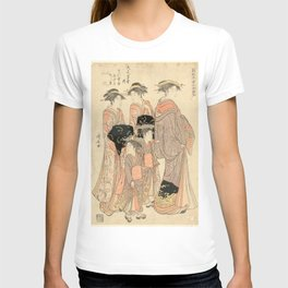 The Courtesans Maizumi Of The Daimonjiya Brothel T-shirt