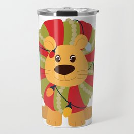 Your Big Cat in Decorative Christmas Wreath Travel Mug