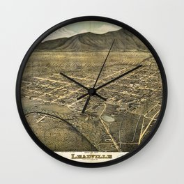 Bird's eye view of Leadville, Lake County, Colorado (1879) Wall Clock