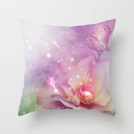 Wonderful flowers in soft purple colors Throw Pillow