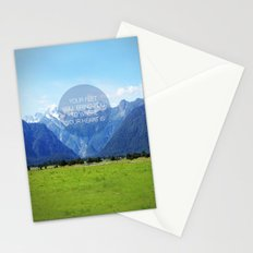 YOUR FEET WILL BRING YOU TO WHERE YOUR HEART IS Stationery Cards