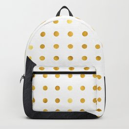 Luxurious black rock texture with golden dots Backpack