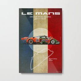 Le Mans 787B Vintage Metal Print