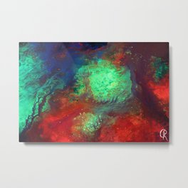 """Titan"" Mixed media on canvas, abstract art painting designs, contemporary artist colorful design Metal Print"