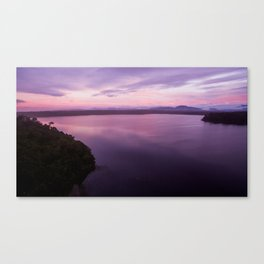 mahinapua golden hours purple reflections Canvas Print