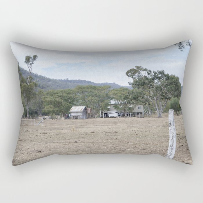 Old Farm House Rectangular Pillow