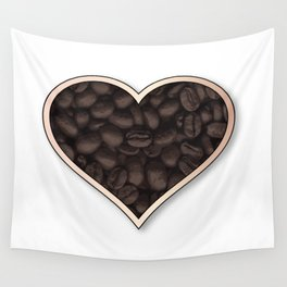 Love Coffee Wall Tapestry