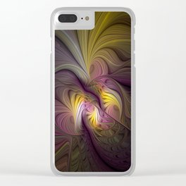 Unity, Abstract Colorful Fractal Art Clear iPhone Case