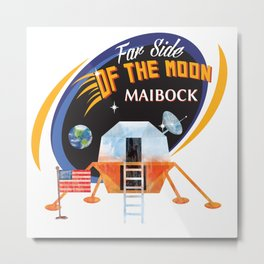 Far Side of the Moon Maibock Metal Print