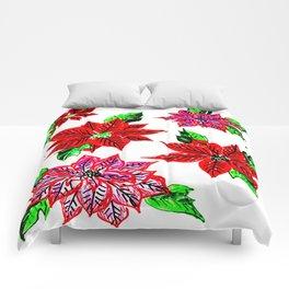 Pretty Poinsettias Comforters