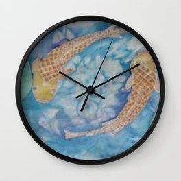 Koi Pond Batik Wall Clock