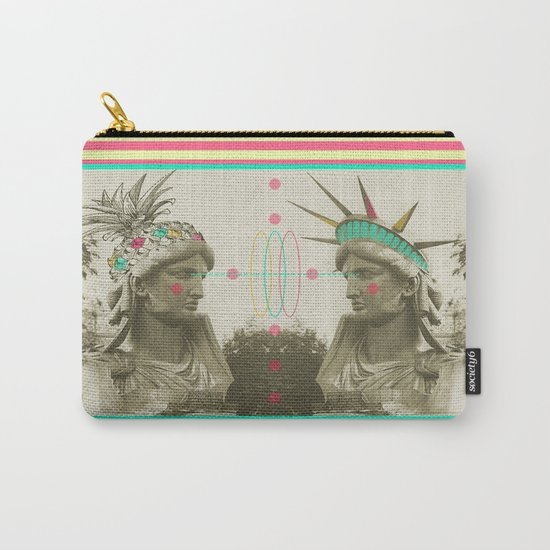 Pineapple architecture 3 : statue of liberty Carry-All Pouch
