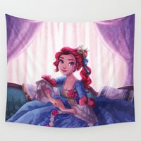 lady Wall Tapestries featuring Lady by Miss Holly