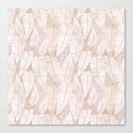 Island Goddess leaf Creme Canvas Print