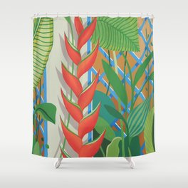 HELICONIA FLOWERS Shower Curtain