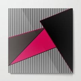 An abstract geometric pattern . Tango Metal Print