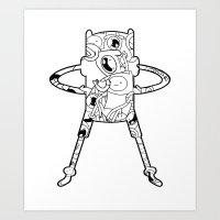 finn Art Prints featuring Finn  by 8BOMB