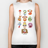 muppet Biker Tanks featuring Muppet Babies Numbers by Mike Boon
