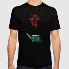 I Am Better With You [Elementary CBS] Black SMALL Mens Fitted Tee