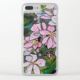 Blushing Blossoms Clear iPhone Case