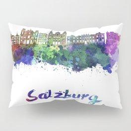 Salzburg skyline in watercolor Pillow Sham