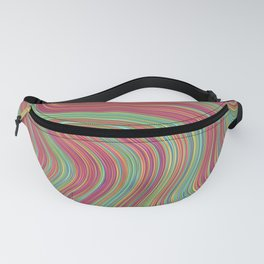 OLEANDER trails of fuschia red grass green abstract Fanny Pack