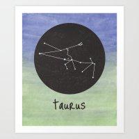taurus Art Prints featuring Taurus by snaticky