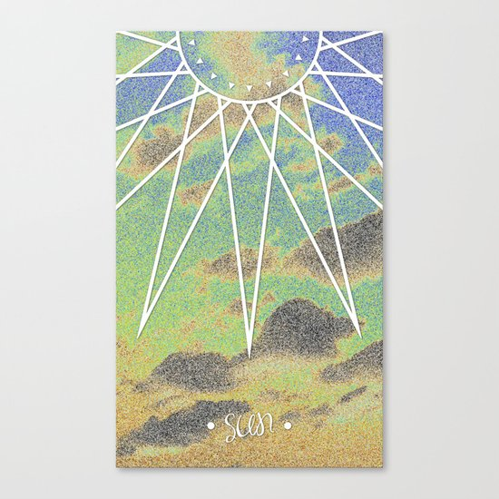 Solarized Burst Canvas Print