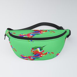 Watercolor unicorn-Green Fanny Pack