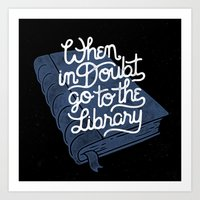 library Art Prints featuring Library by WEAREYAWN