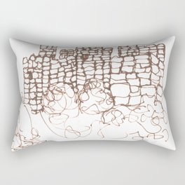 Town Walls  Loose Sketch Rectangular Pillow