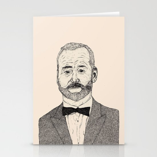 Bill Murray Portrait Stationery Cards