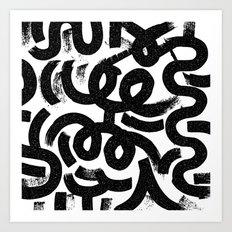Big Strokes Art Print