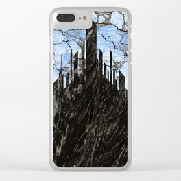 marble city Clear iPhone Case