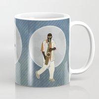 saxophone Mugs featuring Saxophone Musician by Aquamarine Studio
