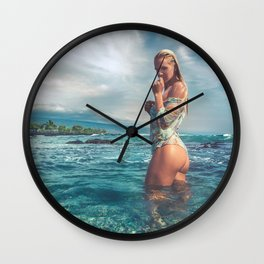 Beach bum Wall Clock