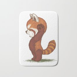Red Panda surprised Bath Mat
