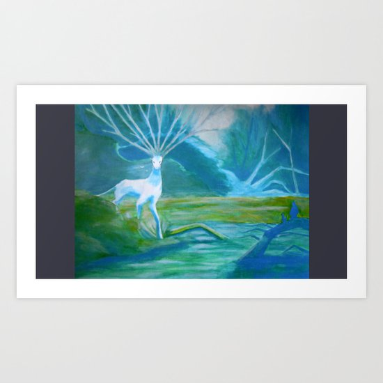 Forest Saint Art Print