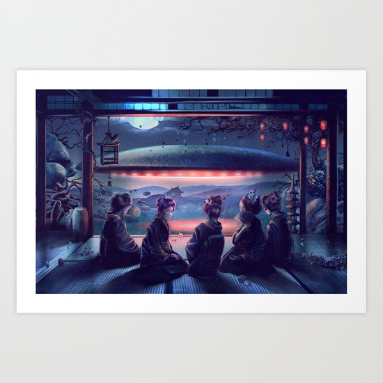 Night Guest  Art Print