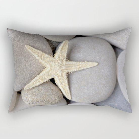 Starfish on pebble Rectangular Pillow