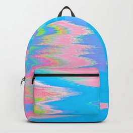Neon Spill Abstract Backpack