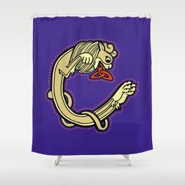 Celtic Lion Letter C 2018 Shower Curtain