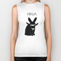 ninja Biker Tanks featuring NINJA by RAGING BUNNIES