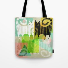 FELINE REFLECTIONS Tote Bag