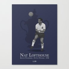 Nat Lofthouse - Bolton Wanderers - 1958 FA Cup Winner Canvas Print